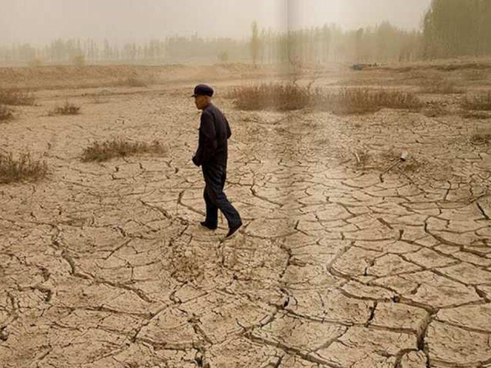 … et en même temps à un autre endroit, la sécheresse, comme par exemple en Chine….