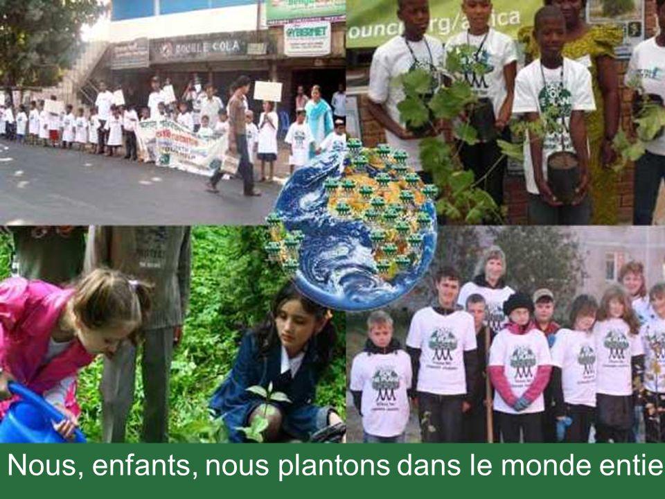 Nous, enfants, nous plantons dans le monde entier