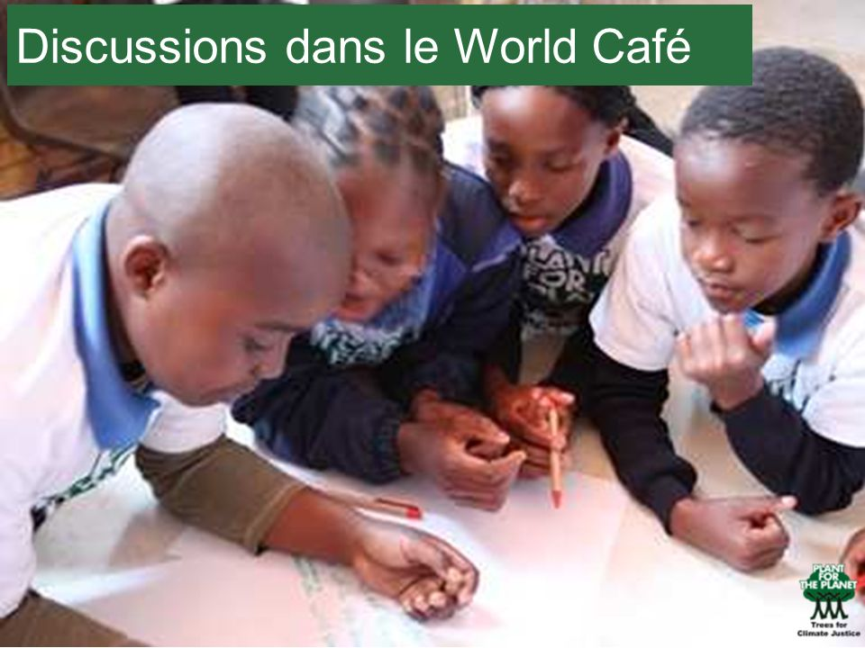 Discussions dans le World Café