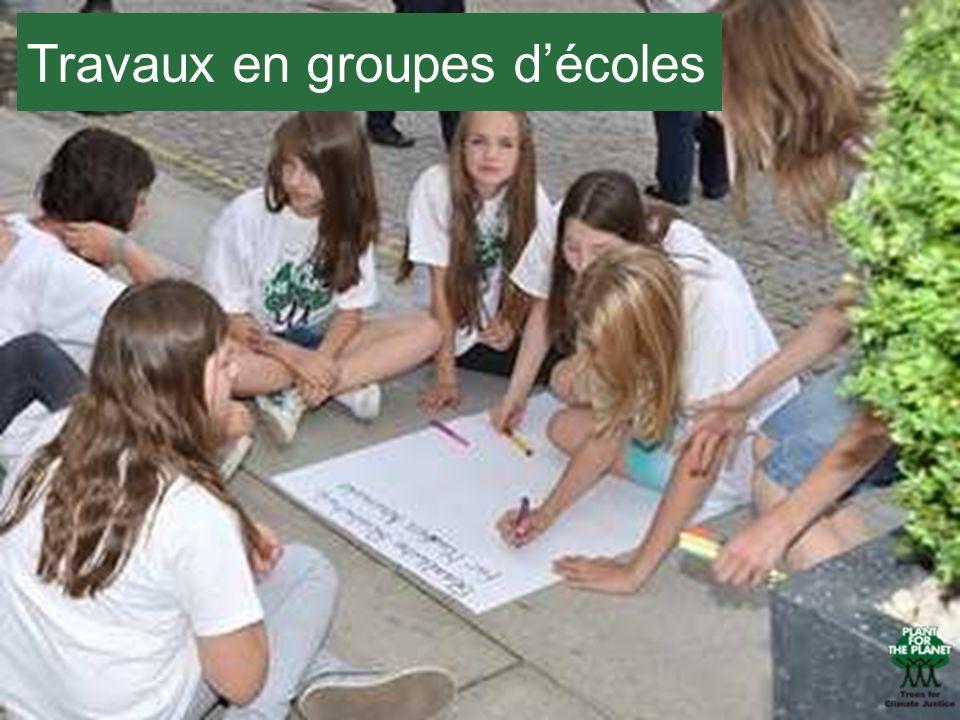 Travaux en groupes d'écoles