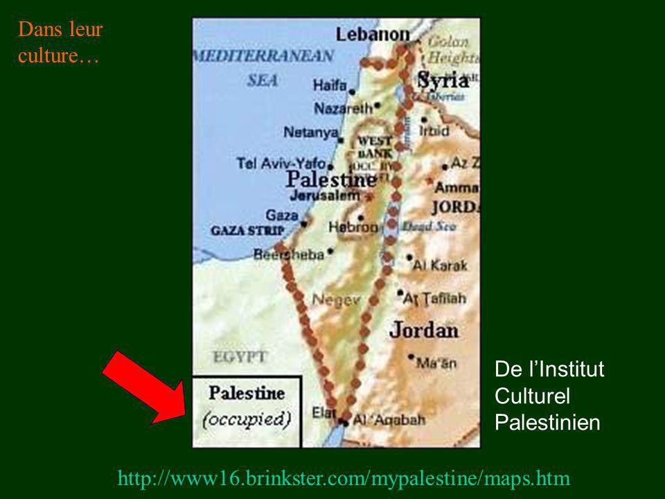 Dans leur culture… De l'Institut Culturel Palestinien.
