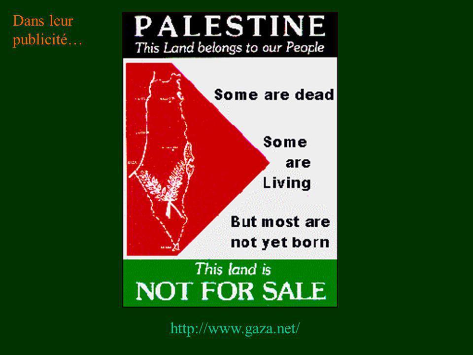 Dans leur publicité… http://www.gaza.net/