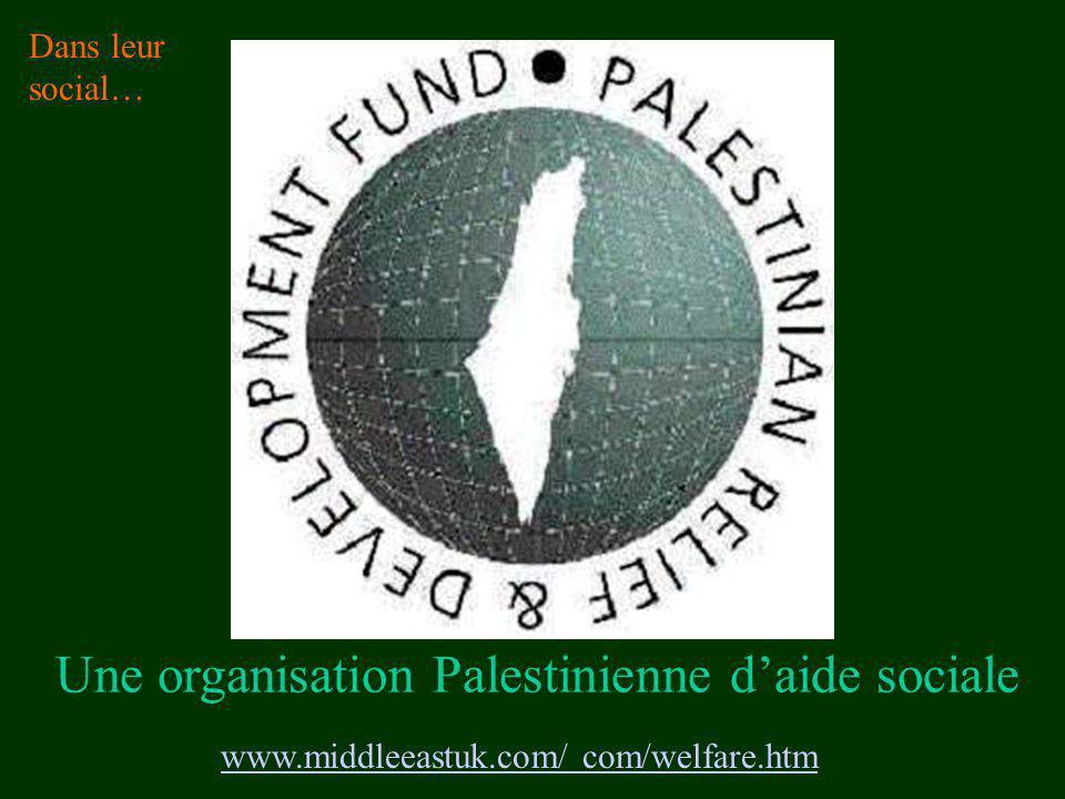 Une organisation Palestinienne d'aide sociale