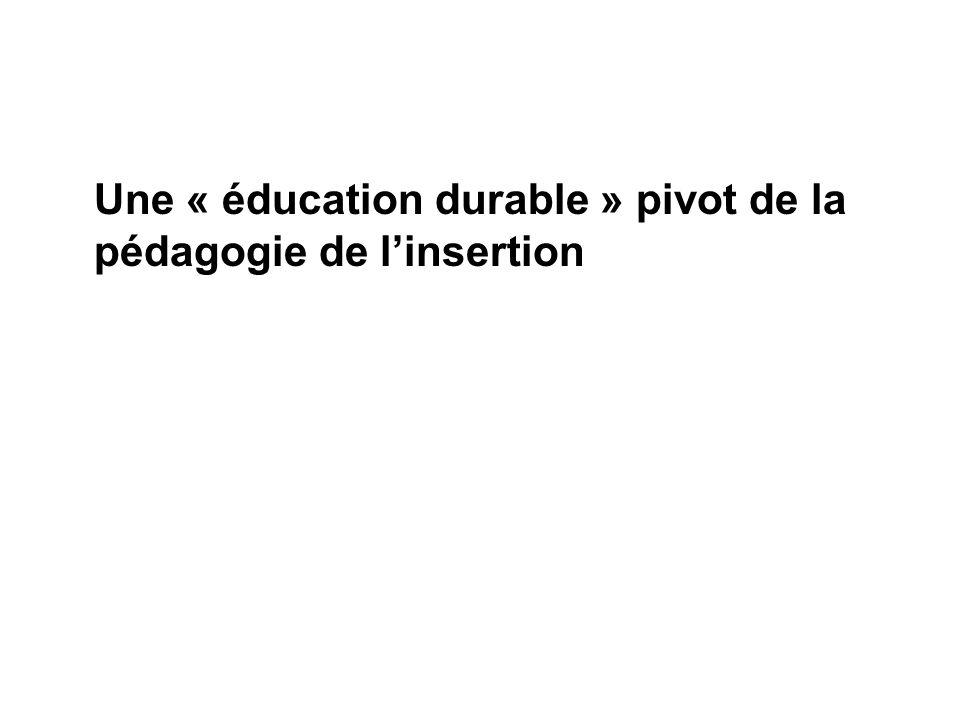 Une « éducation durable » pivot de la pédagogie de l'insertion