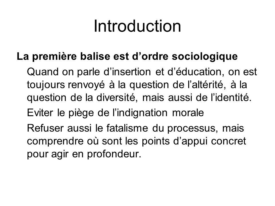 Introduction La première balise est d'ordre sociologique