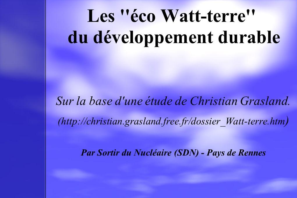Les éco Watt-terre du développement durable
