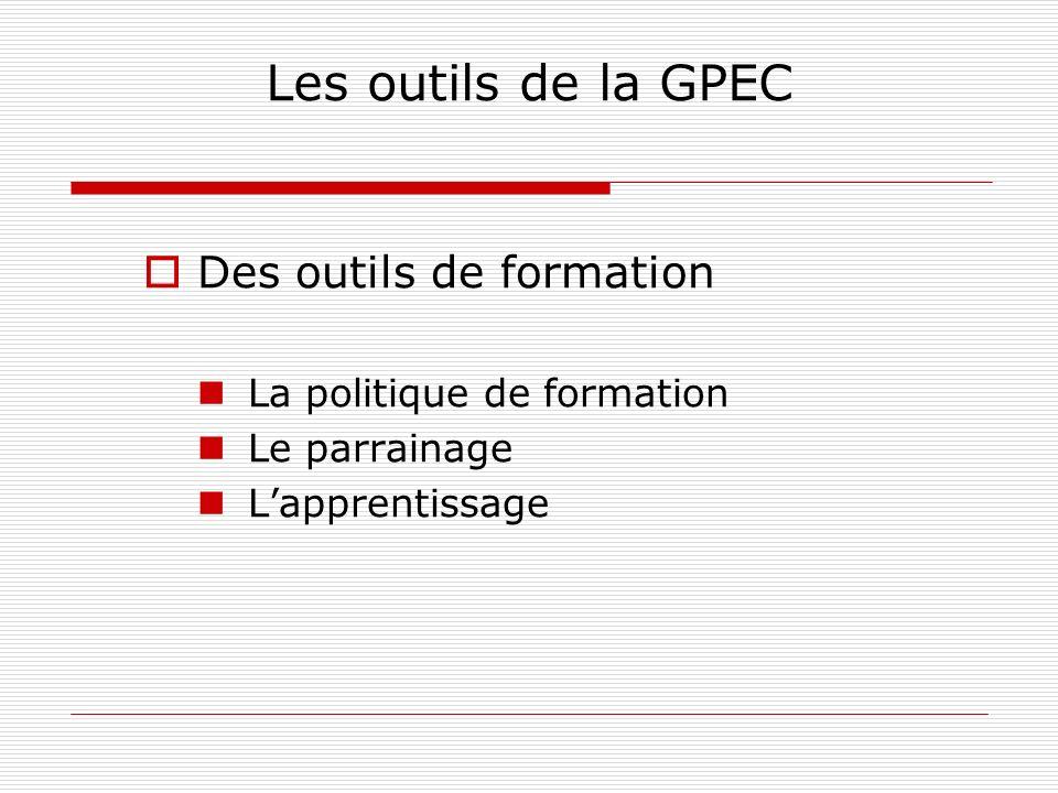 Les outils de la GPEC Des outils de formation