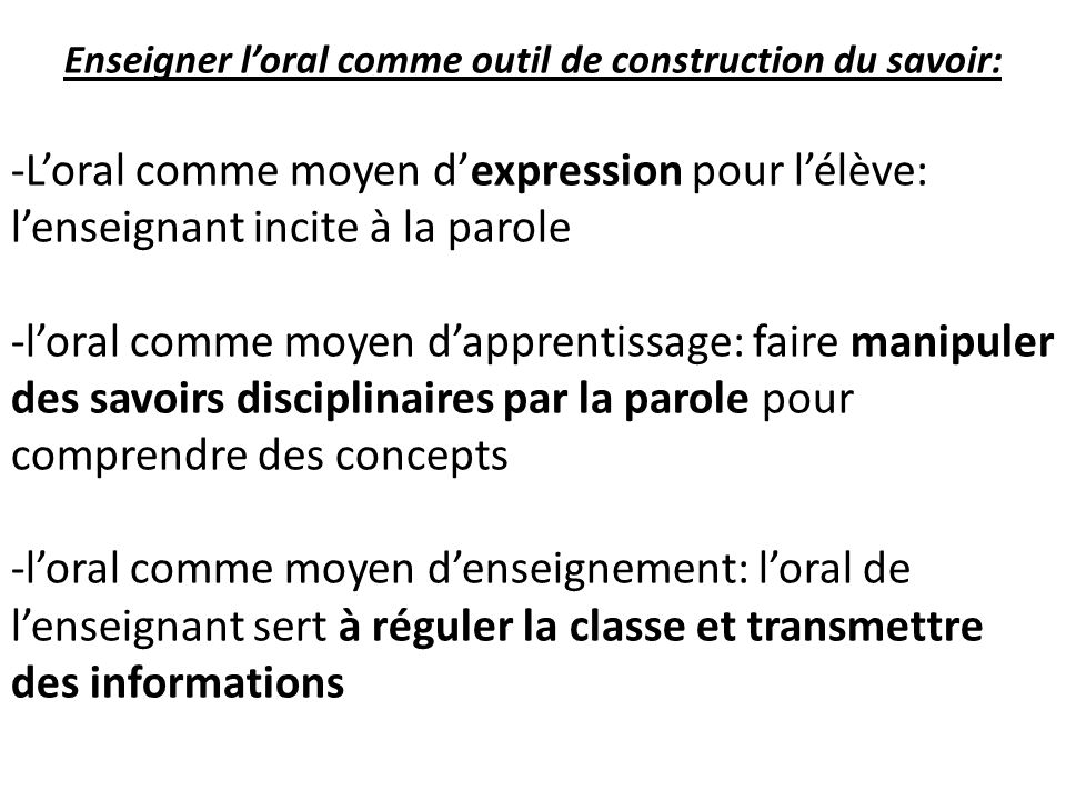 Enseigner l oral cycle 2 cycle 3 ppt t l charger for Outil de construction