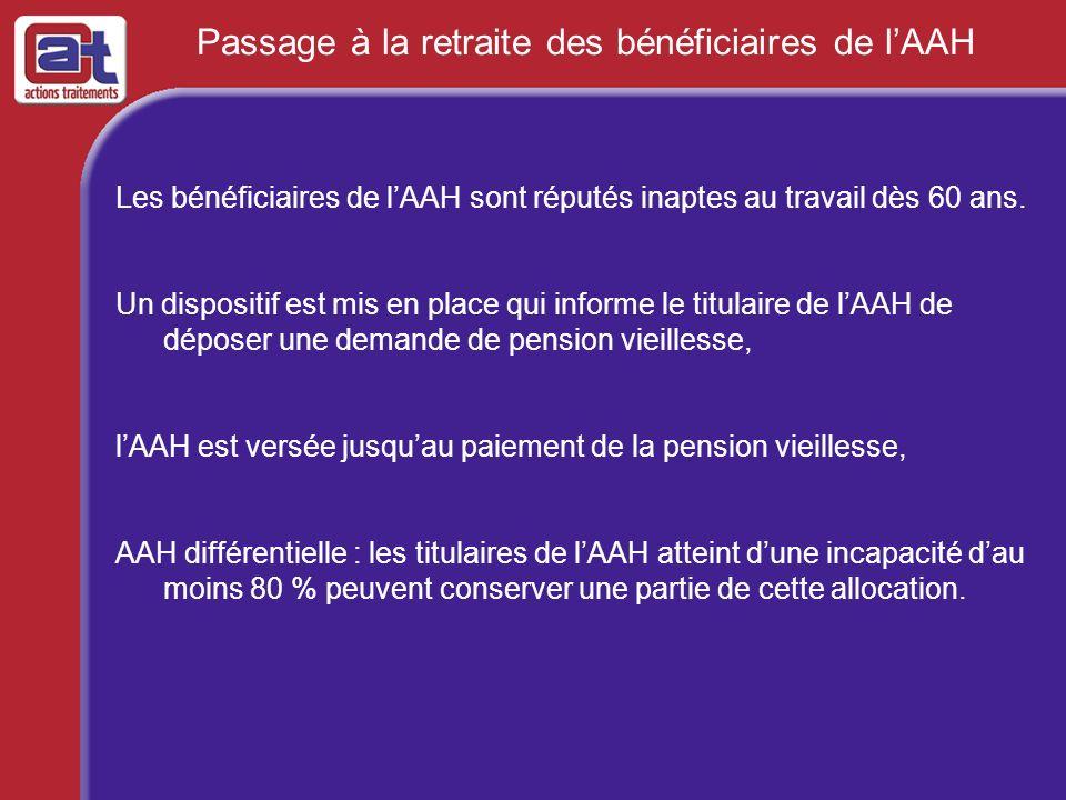 Passage à la retraite des bénéficiaires de l'AAH
