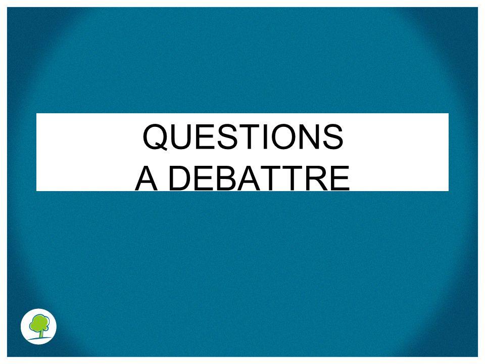 QUESTIONS A DEBATTRE
