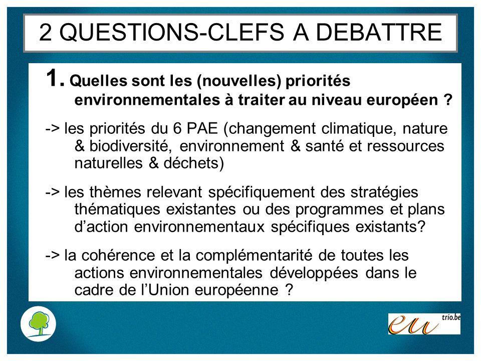 2 QUESTIONS-CLEFS A DEBATTRE