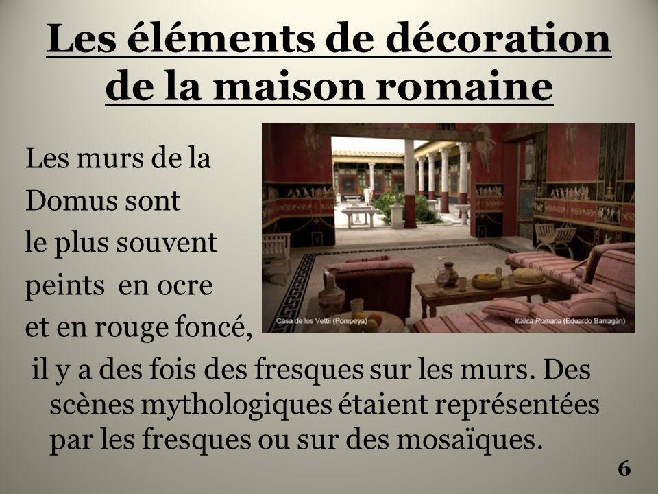 La maison romaine la domus ppt video online t l charger for Decoration maison romaine