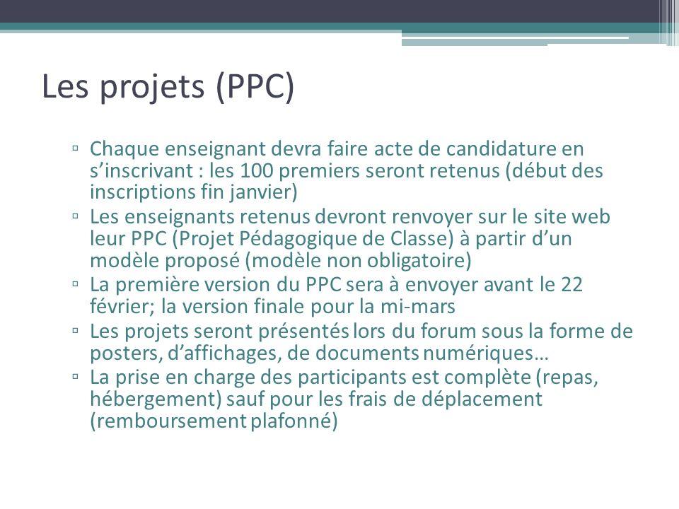 Les projets (PPC)