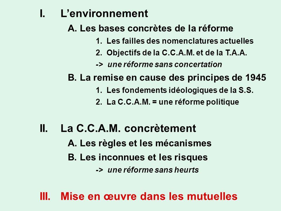 II. La C.C.A.M. concrètement