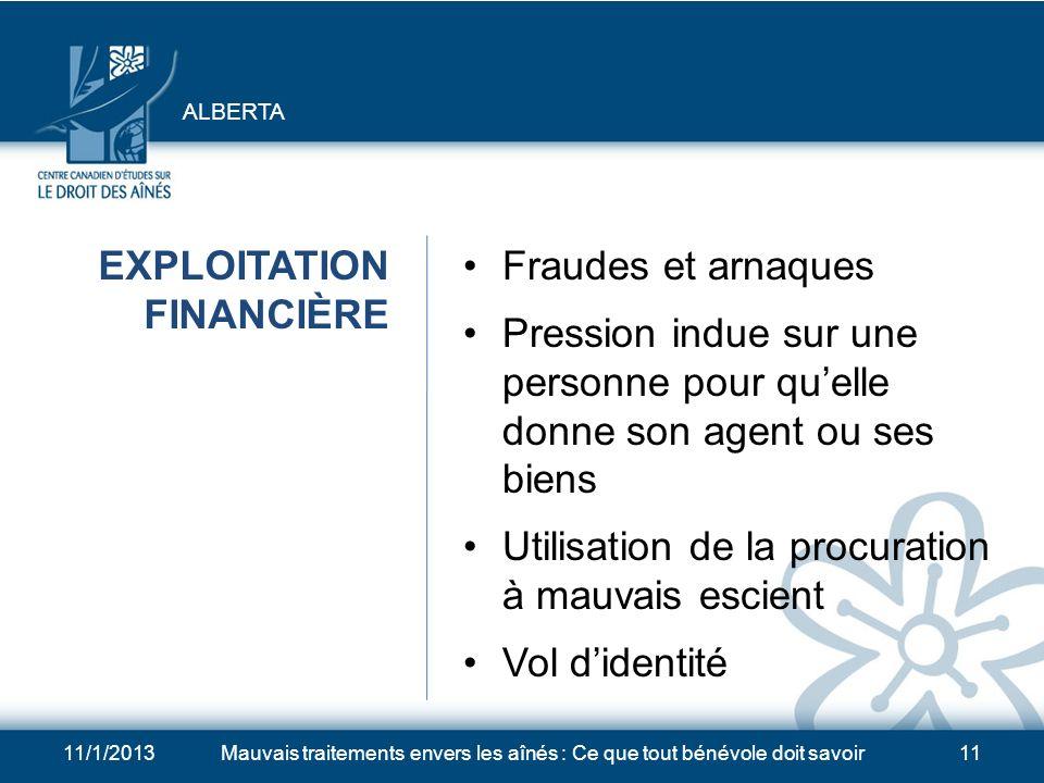 EXPLOITATION FINANCIÈRE Fraudes et arnaques