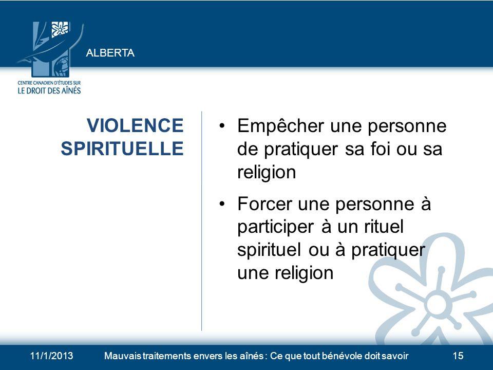 Empêcher une personne de pratiquer sa foi ou sa religion