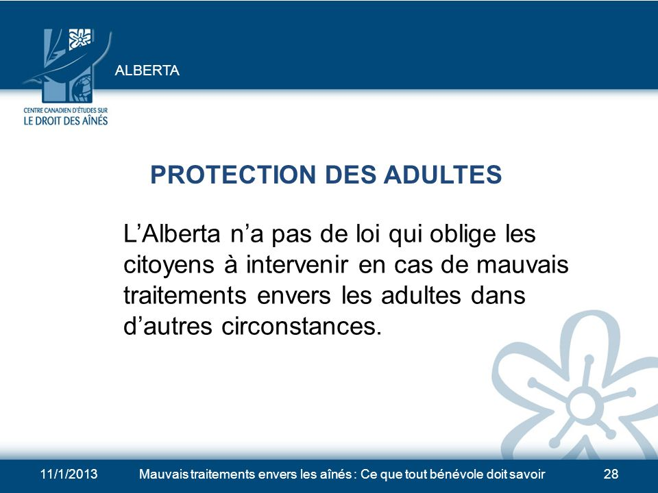 PROTECTION DES ADULTES