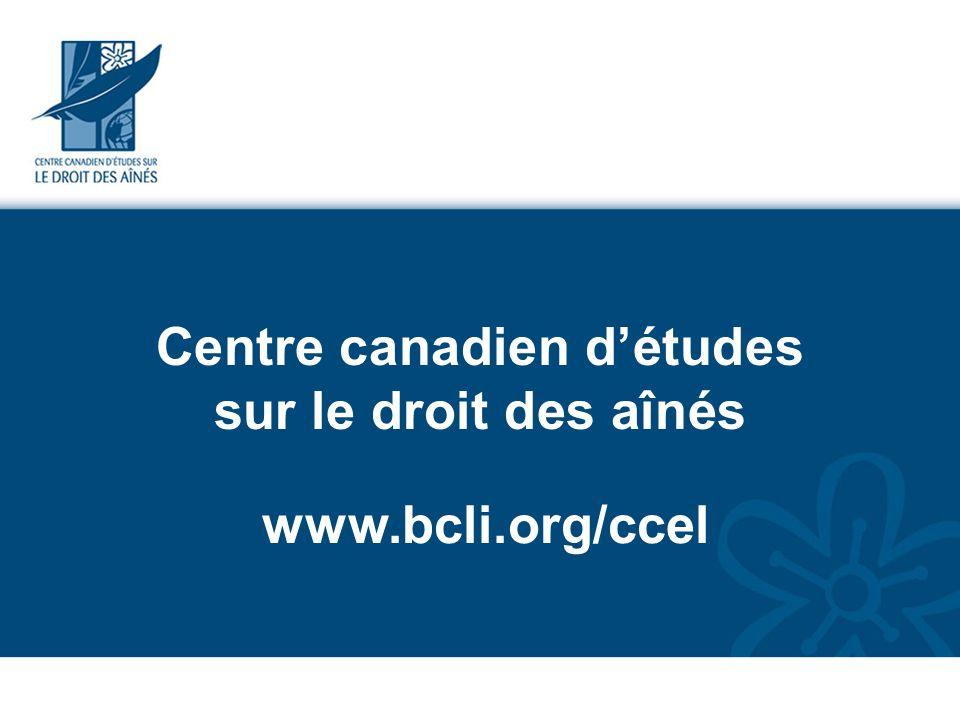 Centre canadien d'études sur le droit des aînés