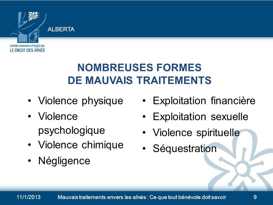 NOMBREUSES FORMES DE MAUVAIS TRAITEMENTS