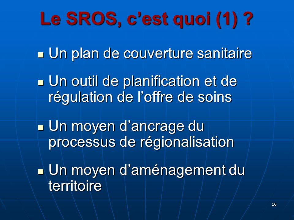 Le SROS, c'est quoi (1) Un plan de couverture sanitaire