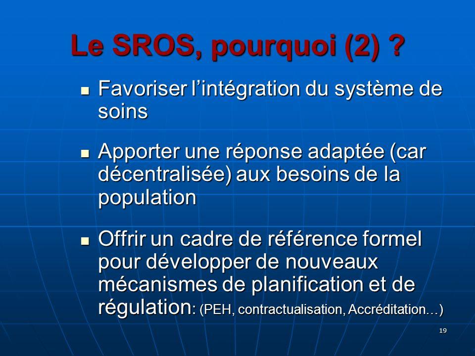 Le SROS, pourquoi (2) Favoriser l'intégration du système de soins