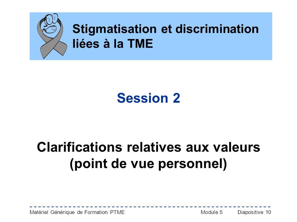 Stigmatisation et discrimination liées à la TME