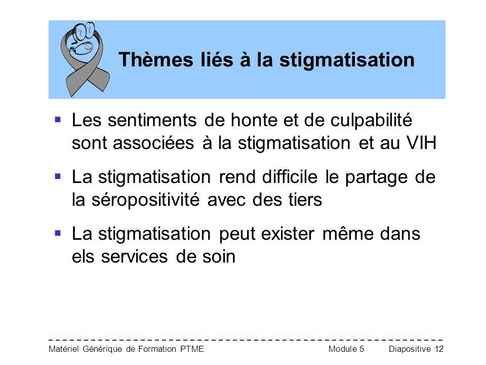 Thèmes liés à la stigmatisation