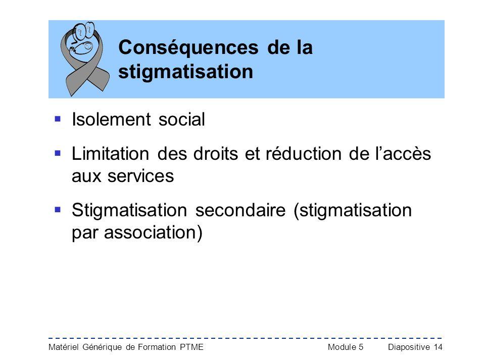 Conséquences de la stigmatisation