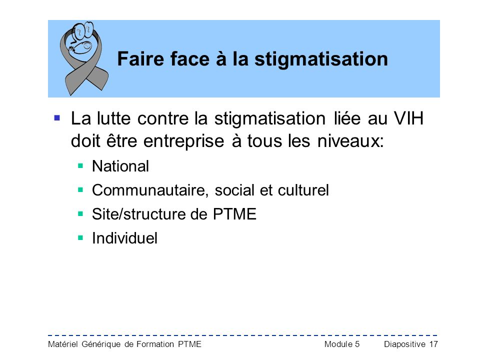 Faire face à la stigmatisation