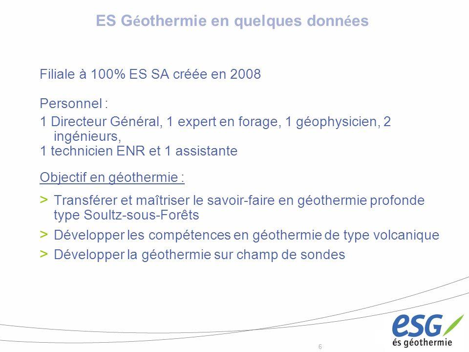ES Géothermie en quelques données