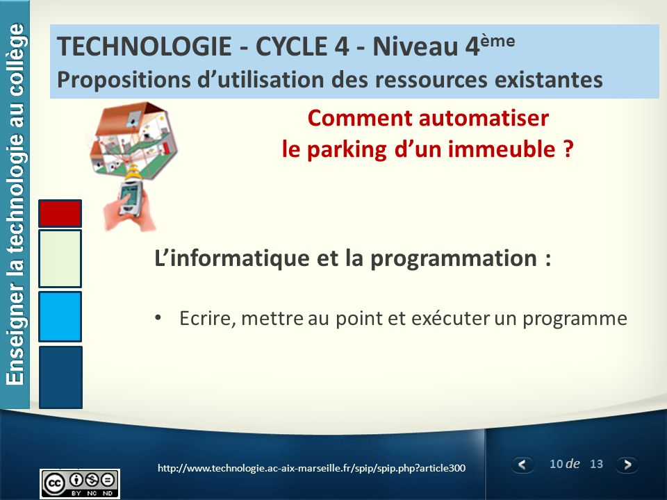 le parking d'un immeuble