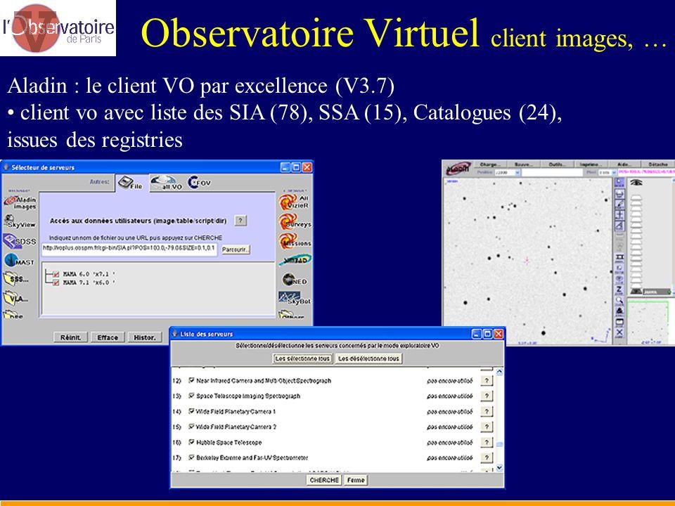 Observatoire Virtuel client images, …