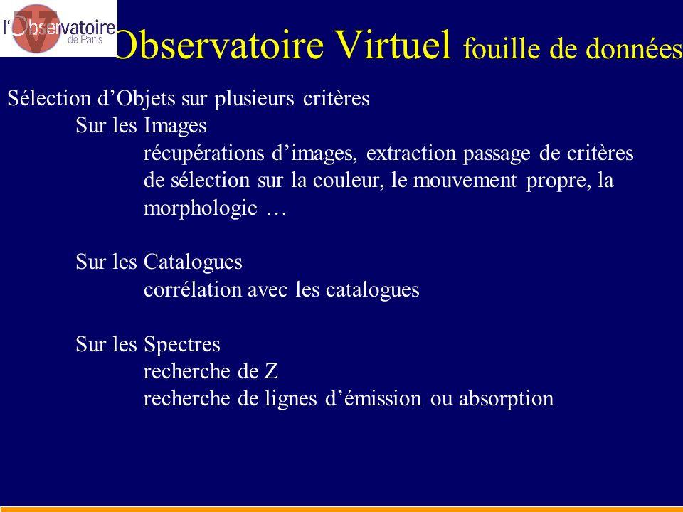 Observatoire Virtuel fouille de données
