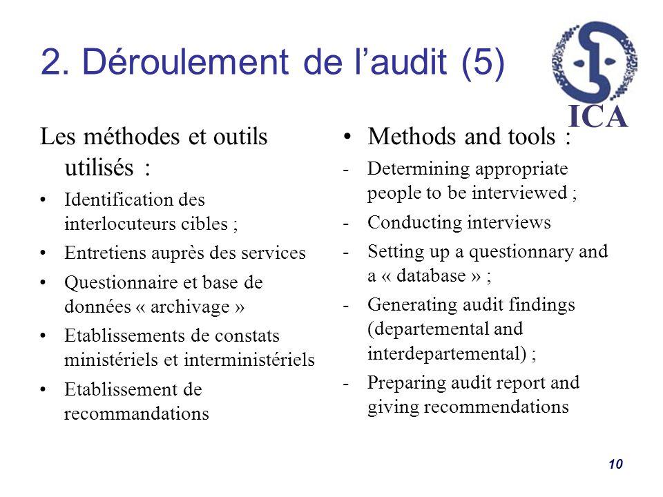 2. Déroulement de l'audit (5)