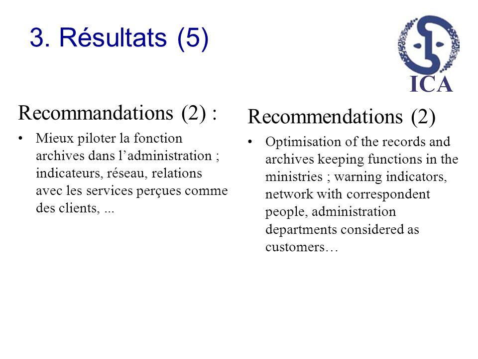 3. Résultats (5) Recommandations (2) : Recommendations (2)