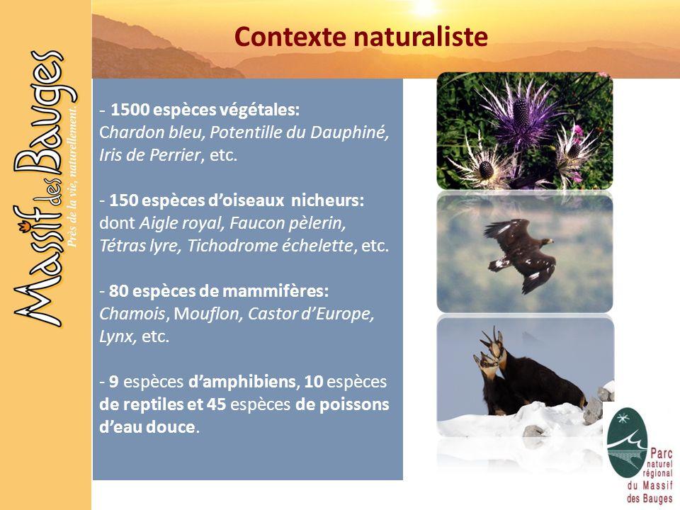 Contexte naturaliste 1500 espèces végétales: