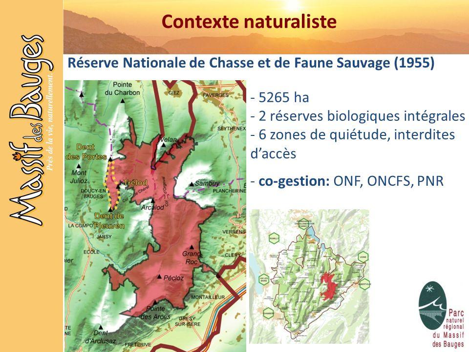 Contexte naturaliste Réserve Nationale de Chasse et de Faune Sauvage (1955) 5265 ha. 2 réserves biologiques intégrales.