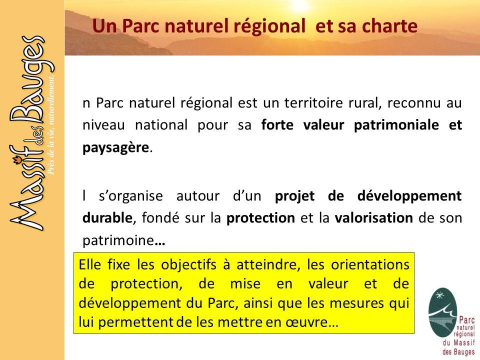 Un Parc naturel régional et sa charte