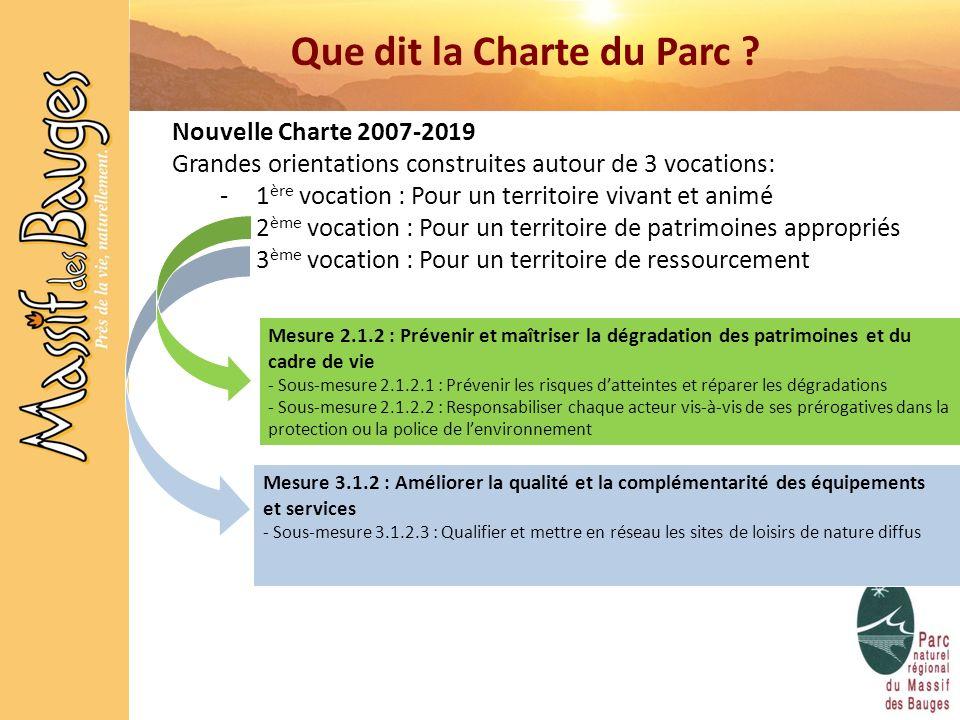 Que dit la Charte du Parc