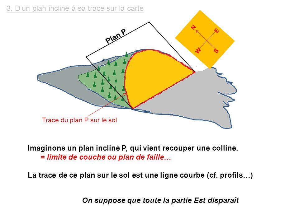 3. D'un plan incliné à sa trace sur la carte