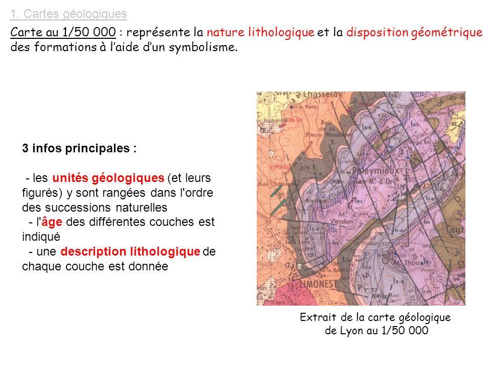 Extrait de la carte géologique