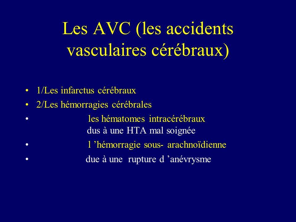 Les AVC (les accidents vasculaires cérébraux)