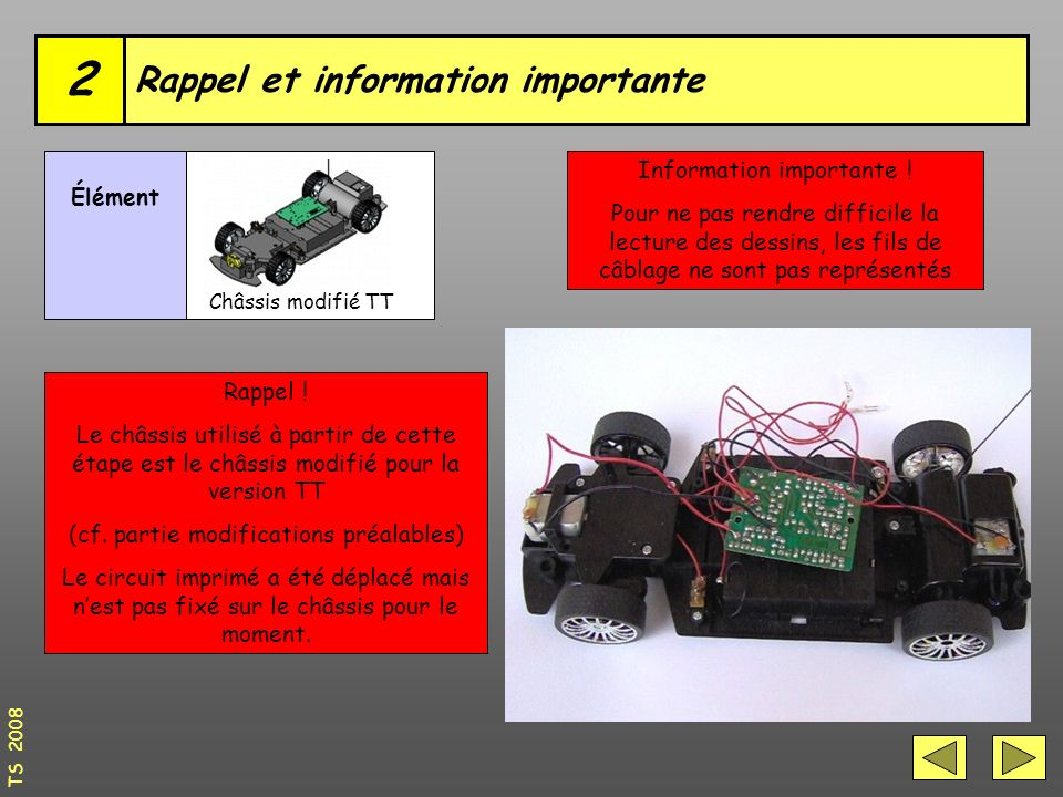Rappel et information importante