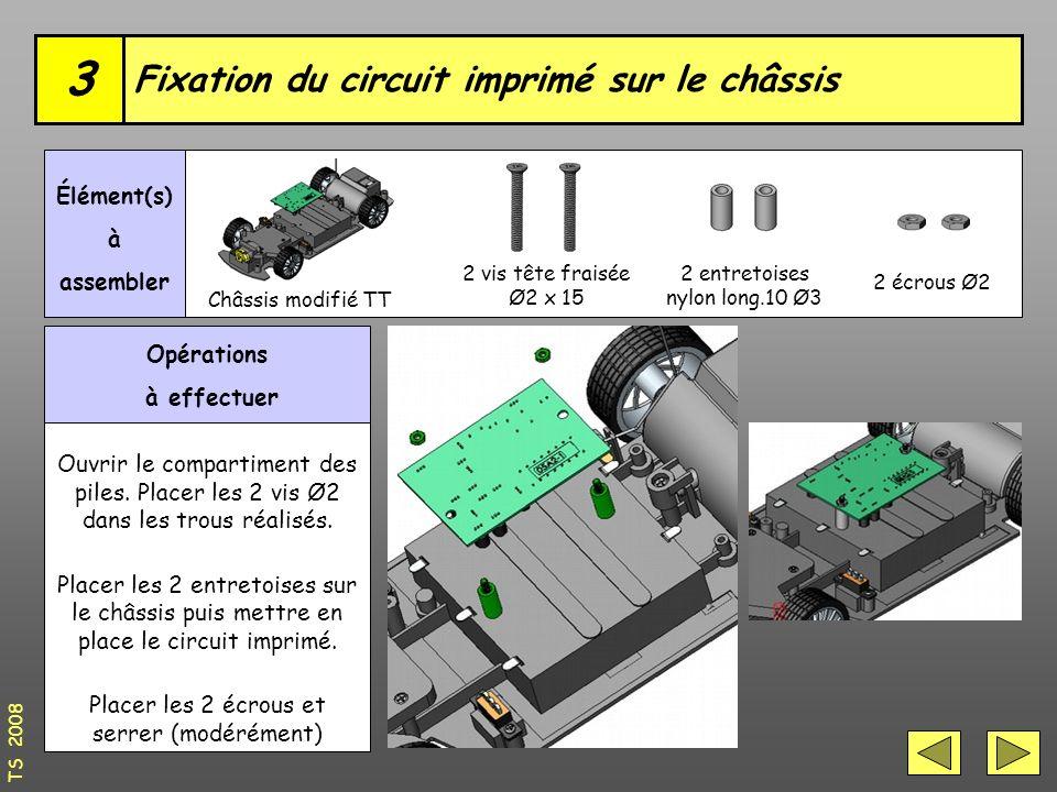 Fixation du circuit imprimé sur le châssis