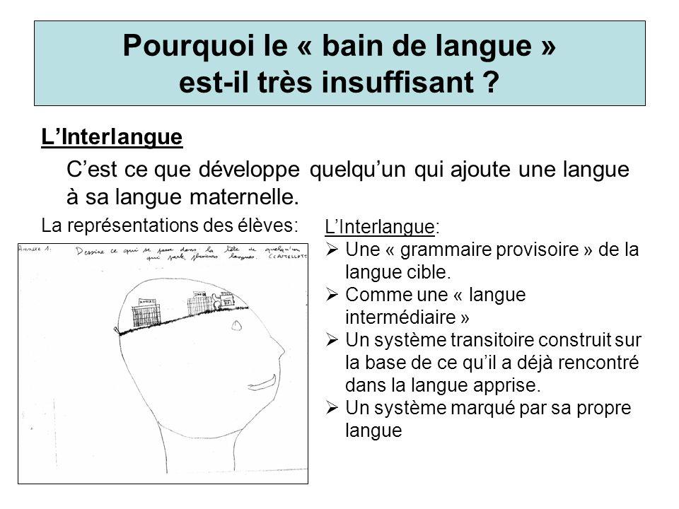 Pourquoi le « bain de langue » est-il très insuffisant
