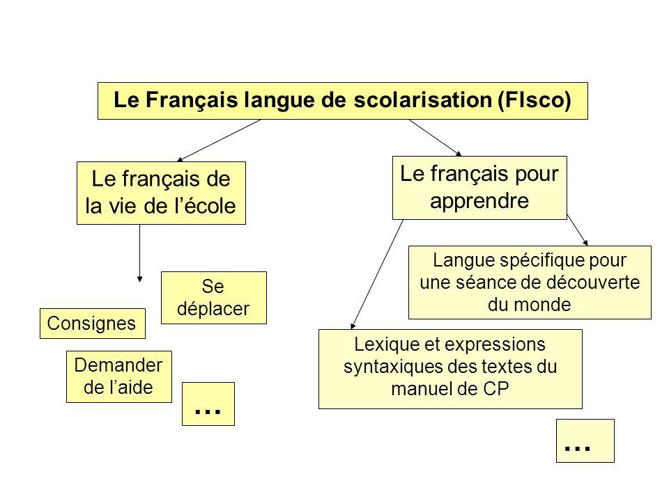 Le Français langue de scolarisation (Flsco)