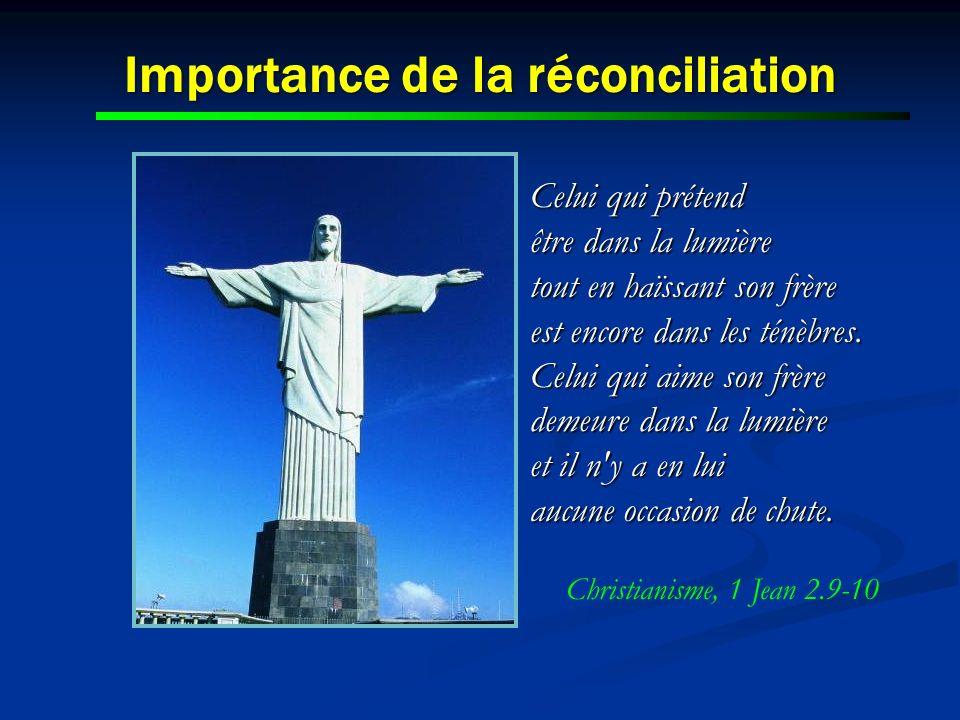Importance de la réconciliation