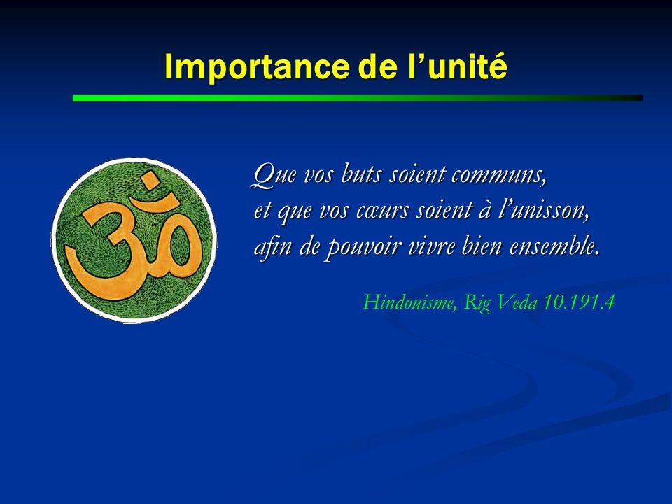 Hindouisme, Rig Veda 10.191.4 Importance de l'unité