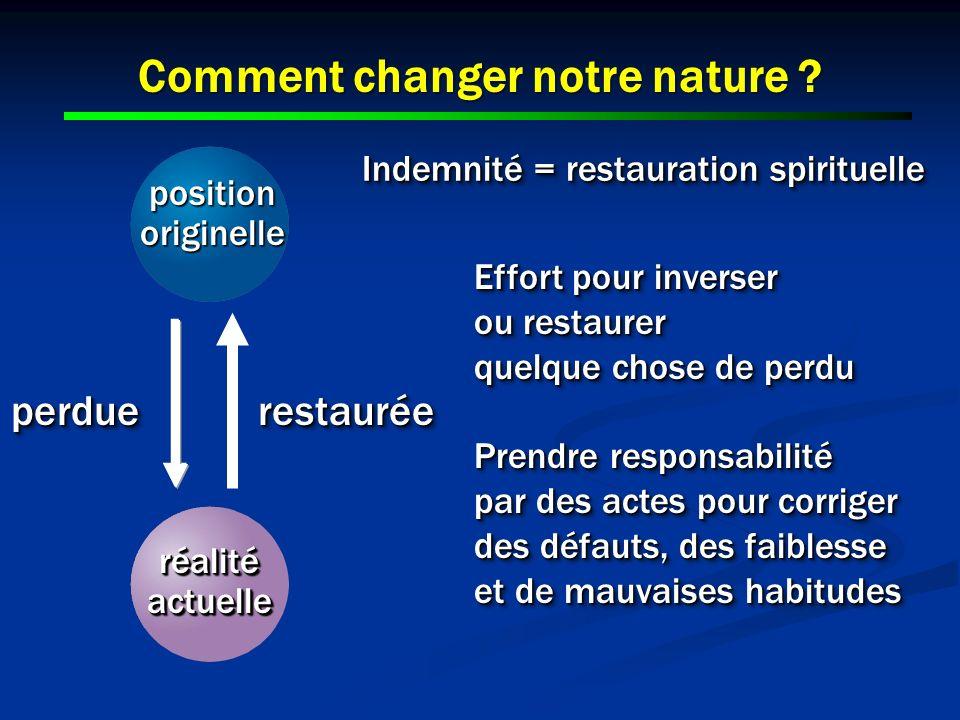 Comment changer notre nature