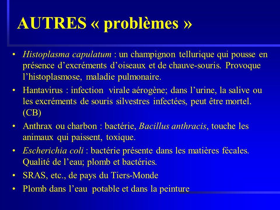 AUTRES « problèmes »